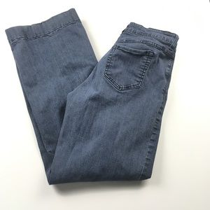 NYDJ Wide Leg High Rise Medium Wash Jeans Sz 12